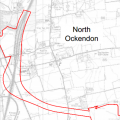 Red Line Map Potential Impact on the North Ockendon Area