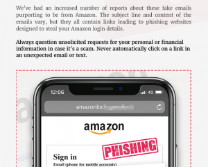Beware Fake Amazon emails!